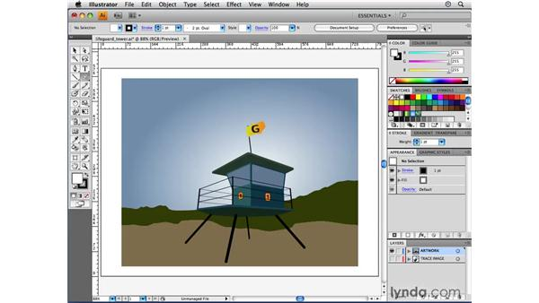 Drawing a lens flare: Illustrator CS4 Beyond the Basics