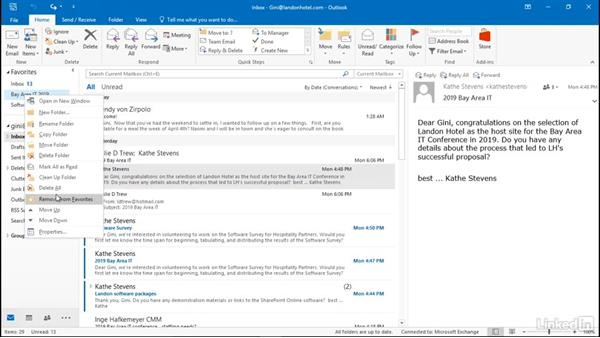 Add a folder to Favorites: Efficient Email Management with Outlook 2016