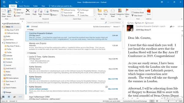 View archive data files: Efficient Email Management with Outlook 2016