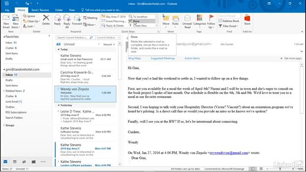 Use built-in Quick Steps: Efficient Email Management with Outlook 2016