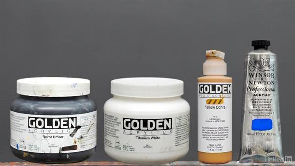 Paints and mediums: Foundations of Painting: Creating Palettes for the Landscape