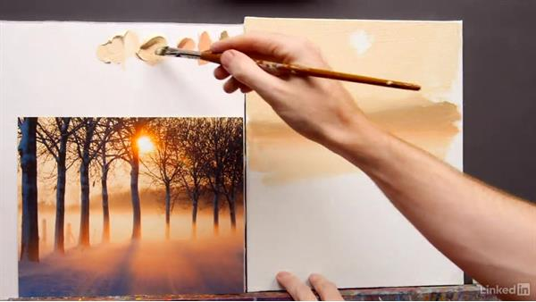 Blending colors of atmospheric light: Foundations of Painting: Creating Palettes for the Landscape