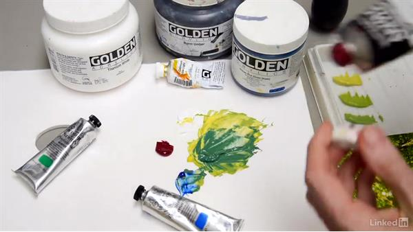 Mixing and balancing green: Foundations of Painting: Creating Palettes for the Landscape