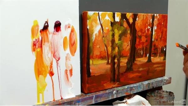 Autumn reflections: Adding glazes: Foundations of Painting: Creating Palettes for the Landscape