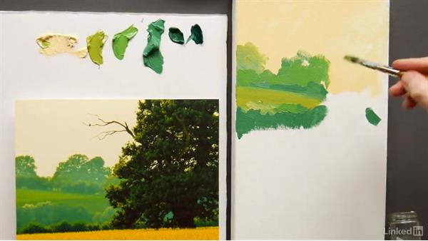 Simplifying shapes: Foundations of Painting: Creating Palettes for the Landscape