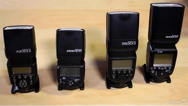 Which Speedlites are covered and their differences: Canon Speedlite Flash Fundamentals