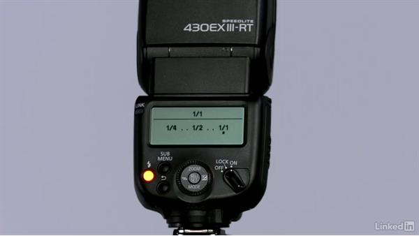 Changing the Speedlite mode and brightness: Canon Speedlite Flash Fundamentals
