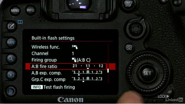 Changing the mode, channel, group, and power settings: Canon Speedlite Flash Fundamentals