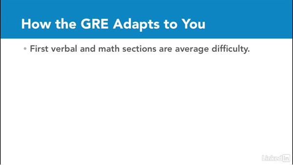 How the GRE test adapts to you: Test Prep: GRE