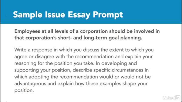 Gre essay prompts issue