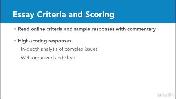 Scoring criteria for both essays: Test Prep: GRE