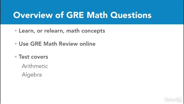 Overview of GRE math questions: Test Prep: GRE