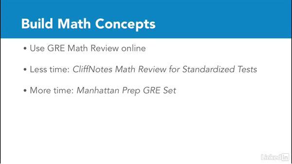 Build math concepts: Test Prep: GRE