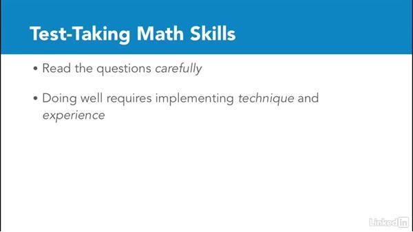 Test-taking math skills: Test Prep: GRE