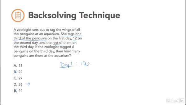 Backsolving technique: Test Prep: GRE