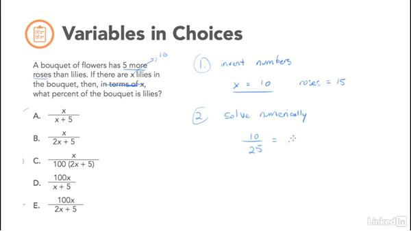 Variables in choices (VIC) technique: Test Prep: GRE