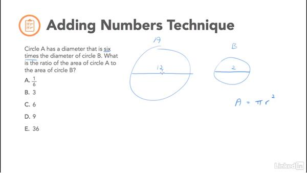 Adding numbers technique: Test Prep: GRE