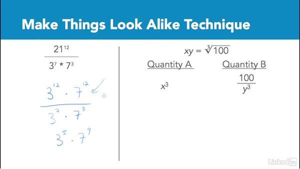 Make things look alike technique: Test Prep: GRE
