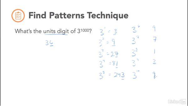 Find patterns technique: Test Prep: GRE