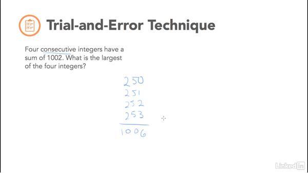 Trial-and-error technique: Test Prep: GRE
