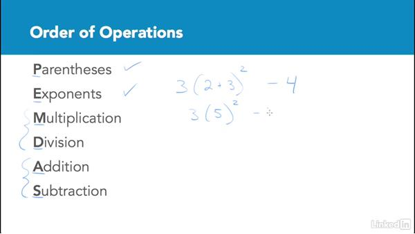 Order of operations: Test Prep: GRE