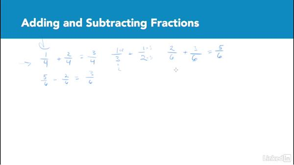 Adding and subtracting fractions: Test Prep: GRE