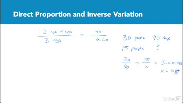 Direct proportion and inverse variation: Test Prep: GRE