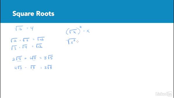 Square roots: Test Prep: GRE
