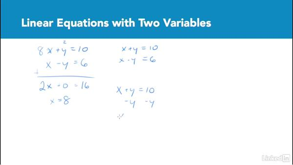 Linear equations with two variables: Test Prep: GRE