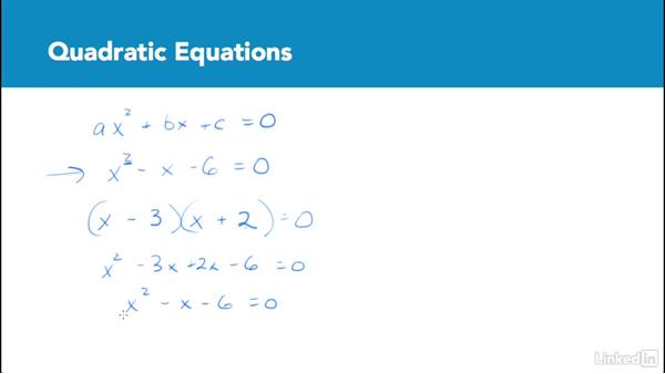 Quadratic equations: Test Prep: GRE
