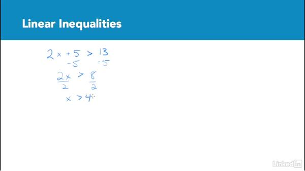 Linear inequalities: Test Prep: GRE