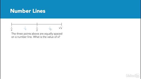 Number lines: Test Prep: GRE