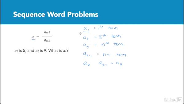 Sequence word problems: Test Prep: GRE