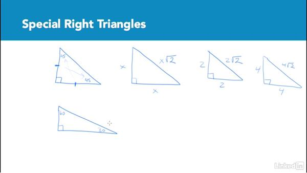 Special right triangles: Test Prep: GRE
