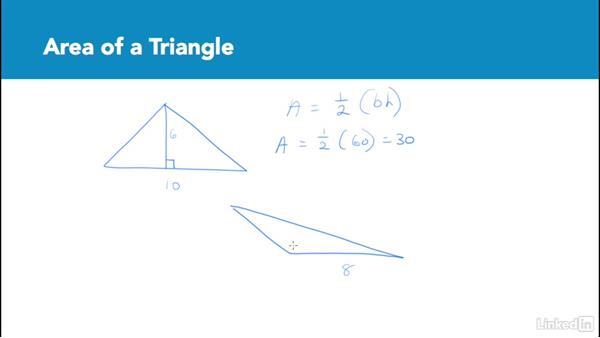 Area of a triangle: Test Prep: GRE