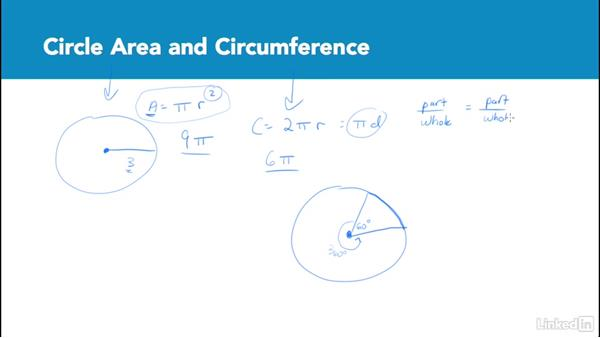 Circle area and circumference: Test Prep: GRE