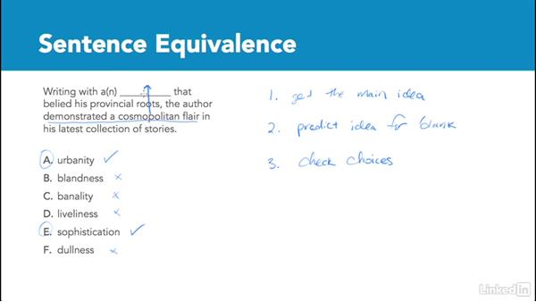 Sentence equivalence overview: Test Prep: GRE