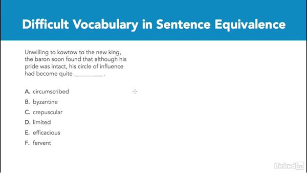 Difficult vocabulary in sentence equivalence: Test Prep: GRE
