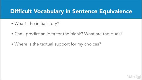 Review sentence equivalence: Test Prep: GRE