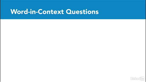 Word-in-context questions: Test Prep: GRE