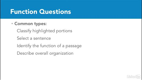 Overview of function questions: Test Prep: GRE