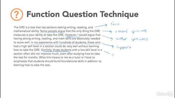 Basic function question technique: Test Prep: GRE