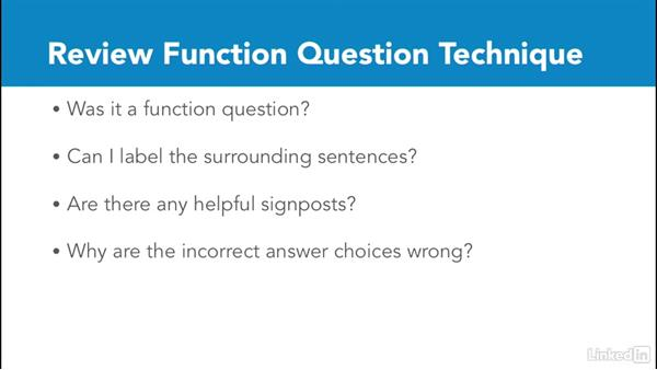 Review function questions: Test Prep: GRE