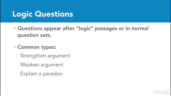 Overview of logic questions: Test Prep: GRE