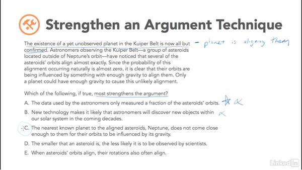 Strengthen an argument technique: Test Prep: GRE