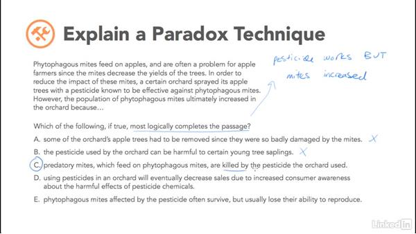 Explain a paradox: Test Prep: GRE