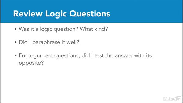 Review logic questions: Test Prep: GRE