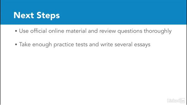 Conclusion and next steps: Test Prep: GRE