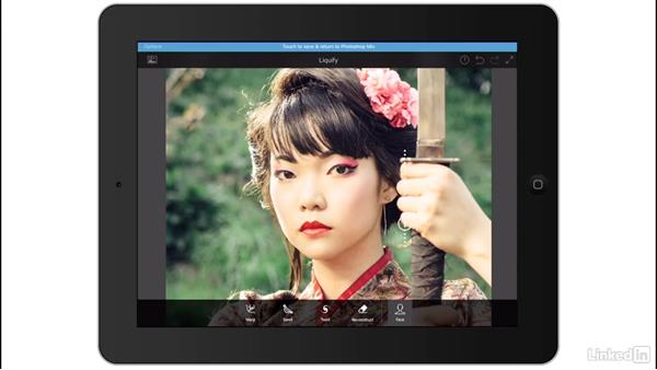 Facial edits in Photoshop Fix: Creating a Photo Composite Illustration with Adobe Apps