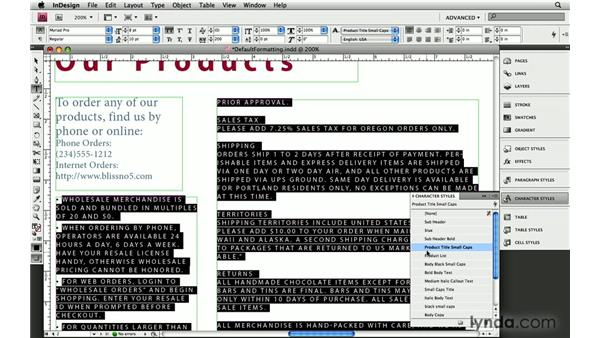 4. Watch out for default formatting: InDesign: 10 Essential Tips